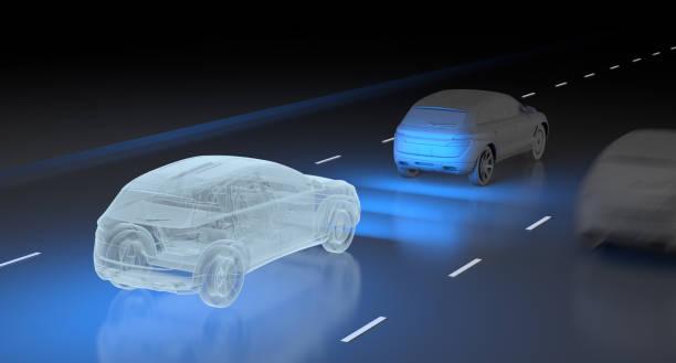 Autonomous vehicle technology stock photo