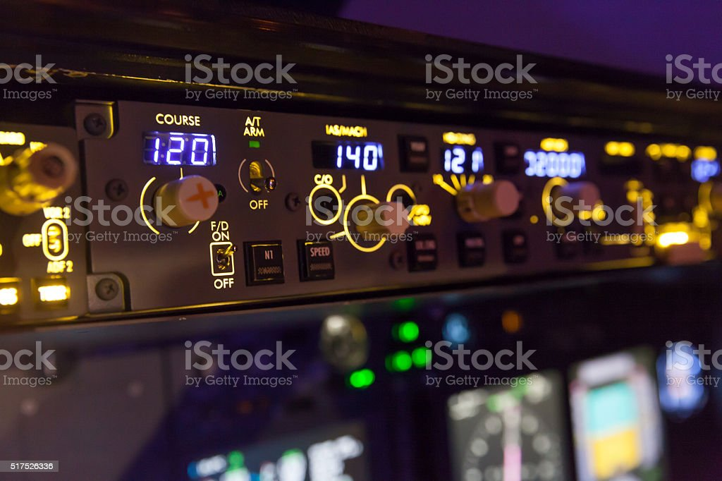 Autopilot stock photo