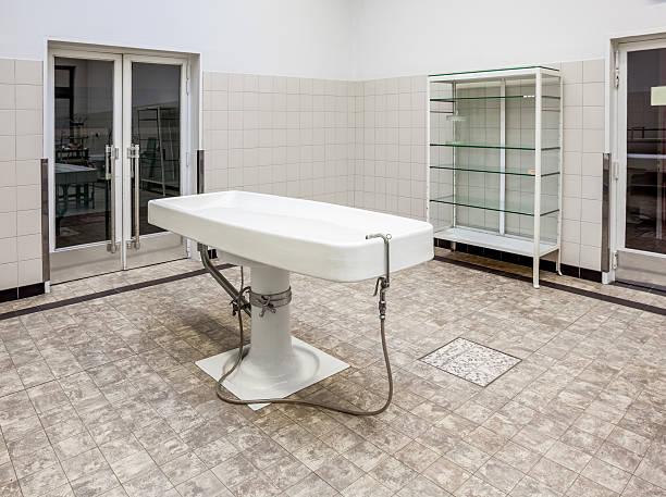 Autopsy tables in morgue – Foto