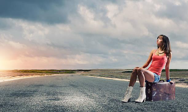 Autostop travel stock photo