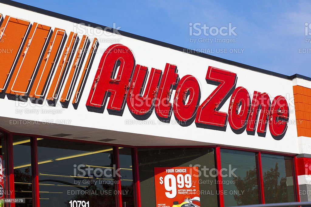 AutoZone Storefront stock photo