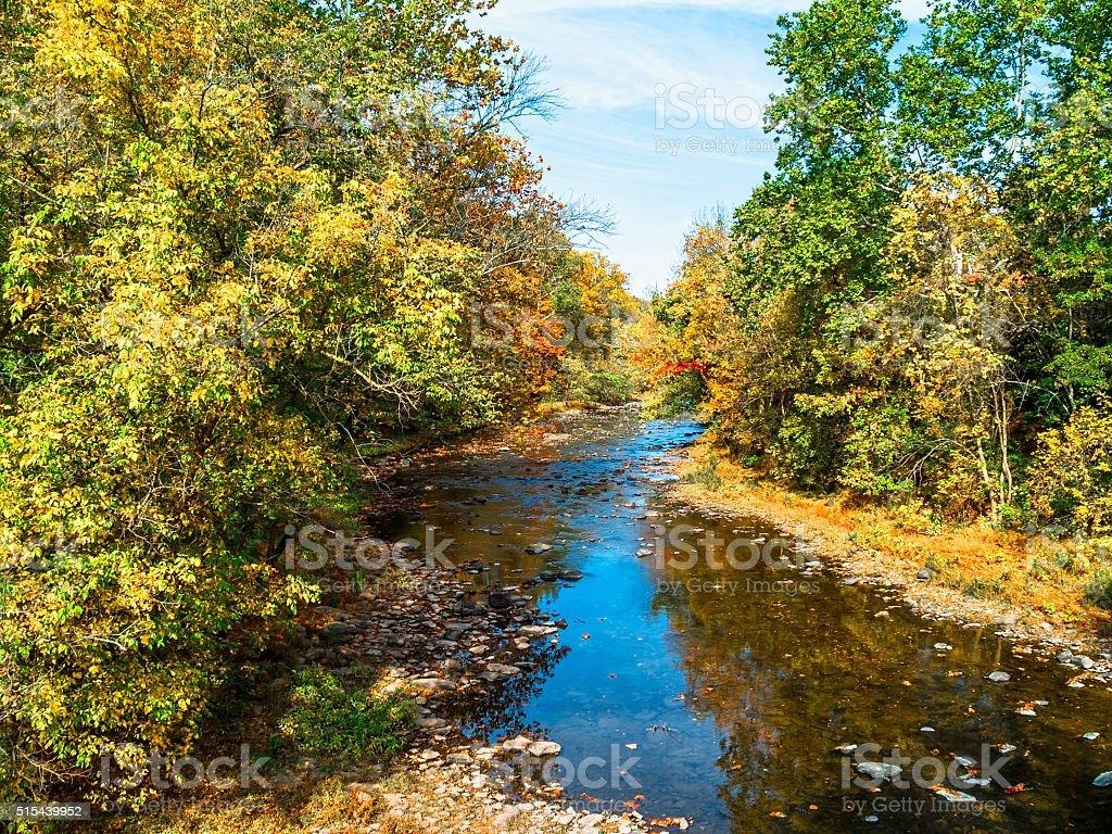 Autum Tohickon Creek stock photo