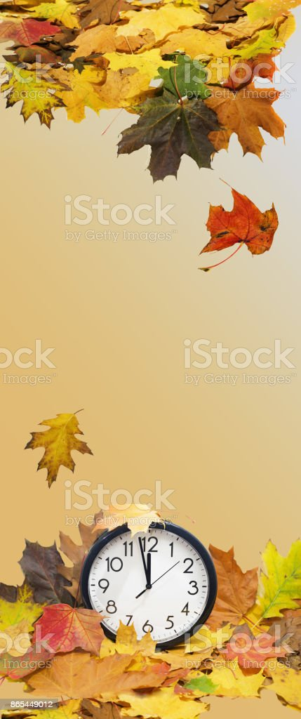 Autumn abstraction. Long vertical banner. stock photo