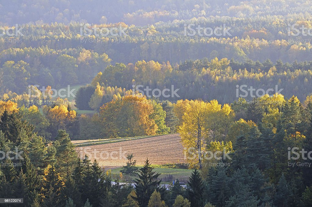 Autumn aerial landscape royalty-free stock photo
