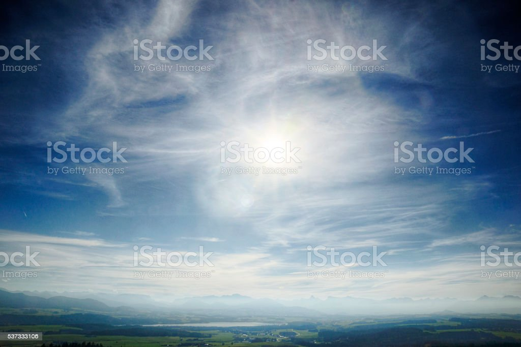 Autumn Afternoon Over Austrian Countryside stock photo