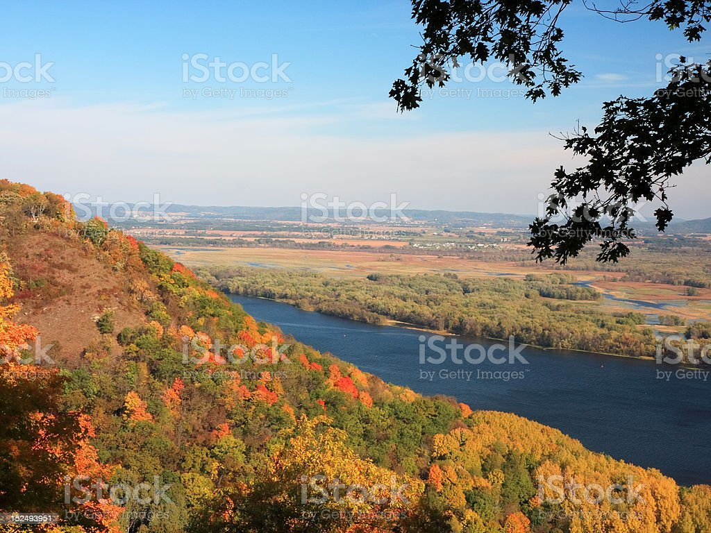 Autumn and Mississippi royalty-free stock photo