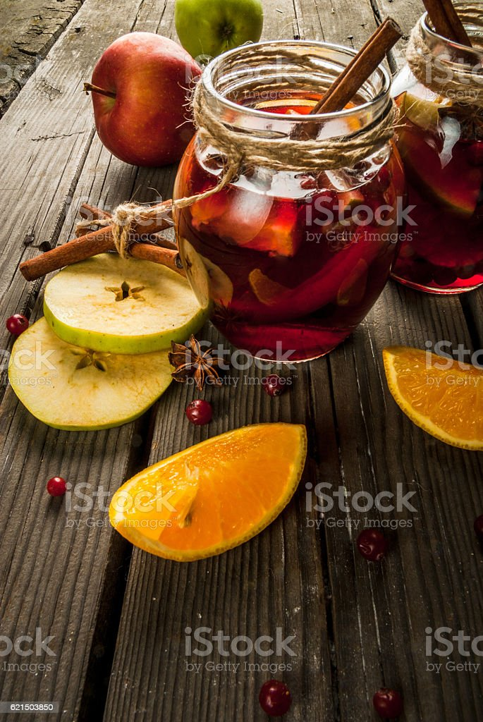 Autumn and winter sangria Lizenzfreies stock-foto