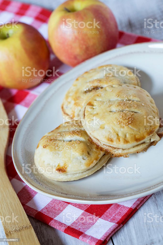 Autumn Apple Hand Pies stock photo