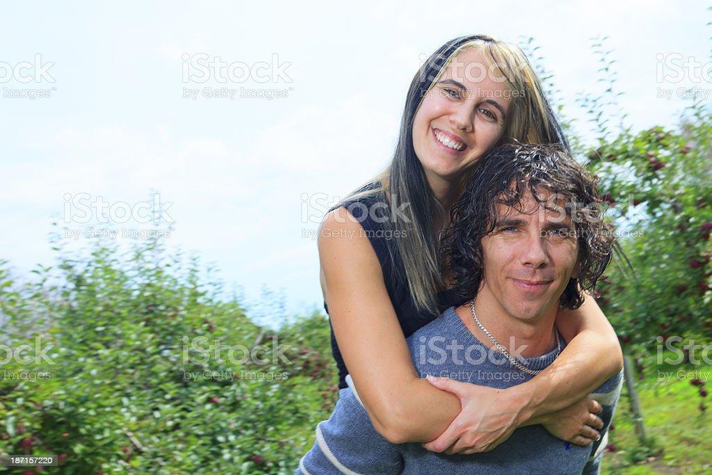 Autumn Apple - Perfect Couple royalty-free stock photo