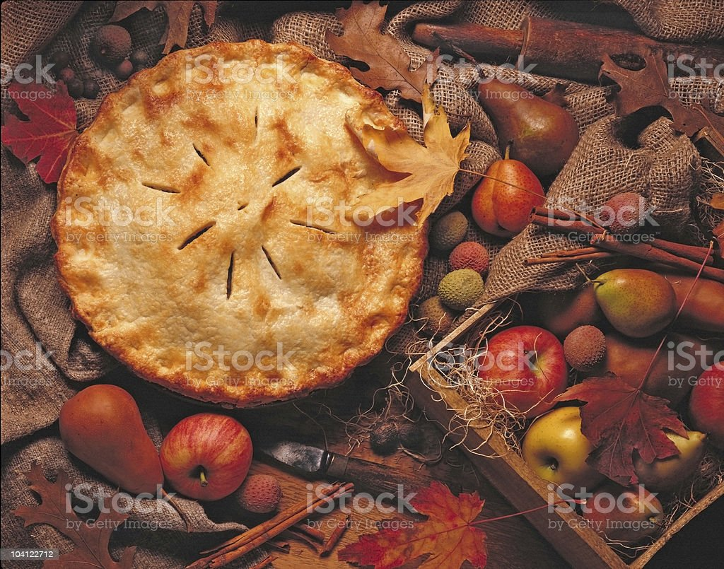 Autumn Apple Pie stock photo