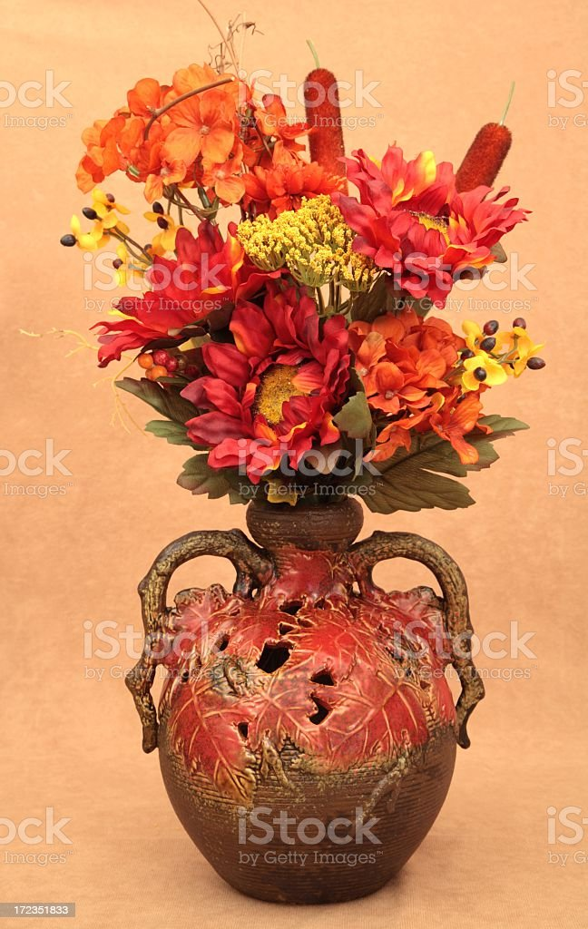 Autumn Arrangement in vase 3 royalty-free stock photo