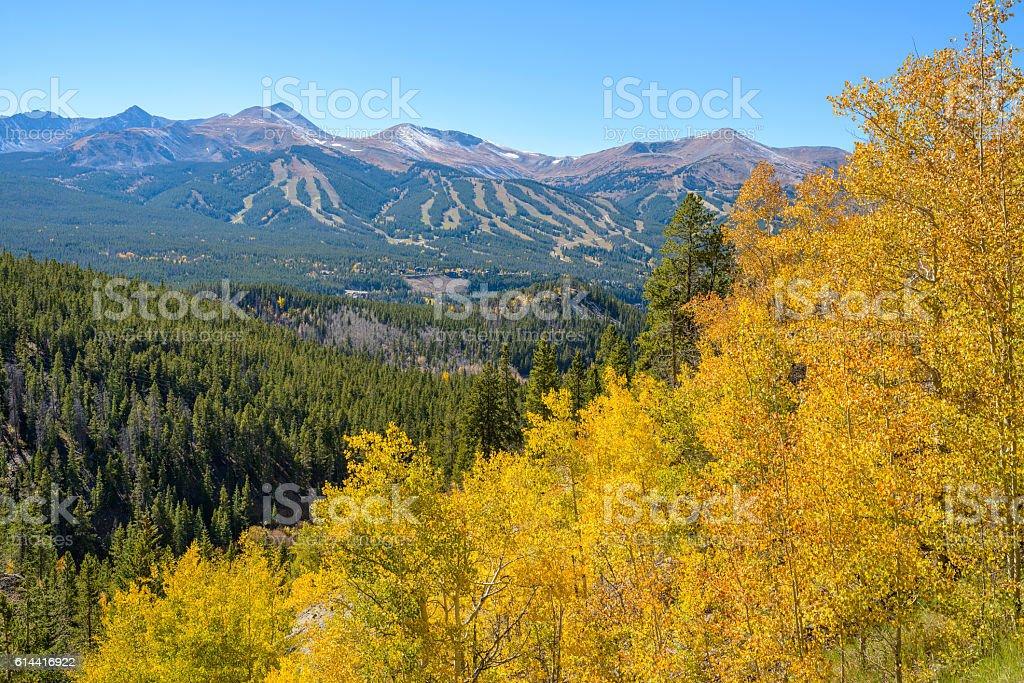 Autumn at Breckenridge stock photo