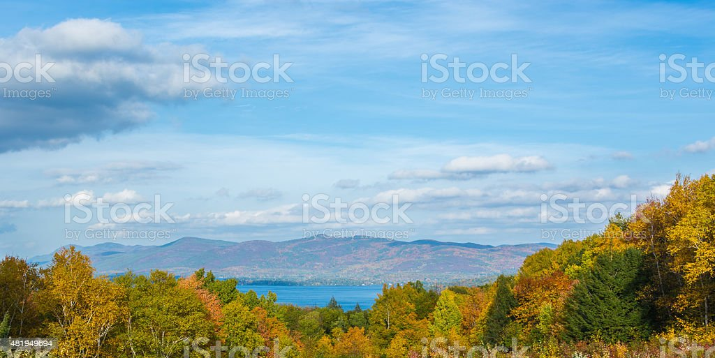 Autumn At Lake George stock photo