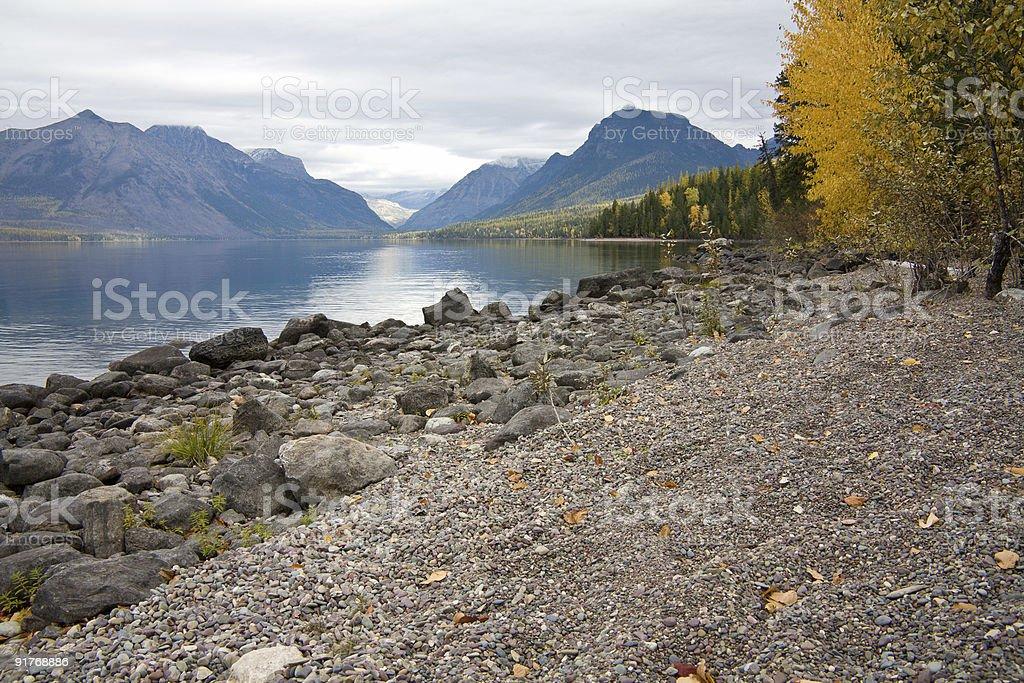 Autumn at Lake McDonald royalty-free stock photo