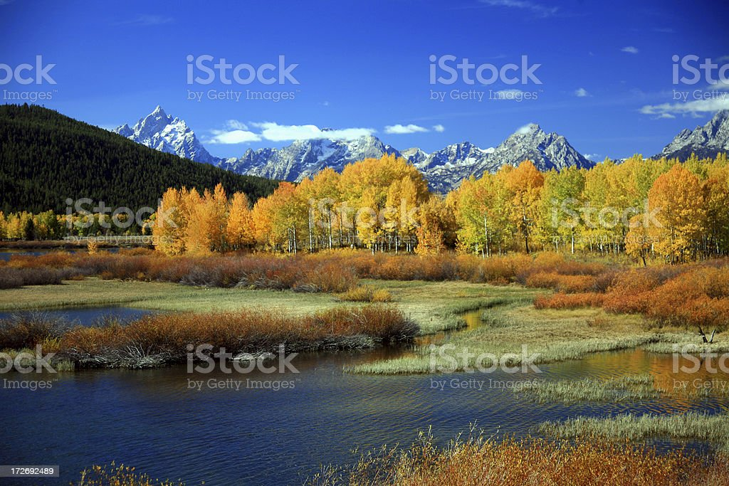 Autumn at Oxbow Bend royalty-free stock photo