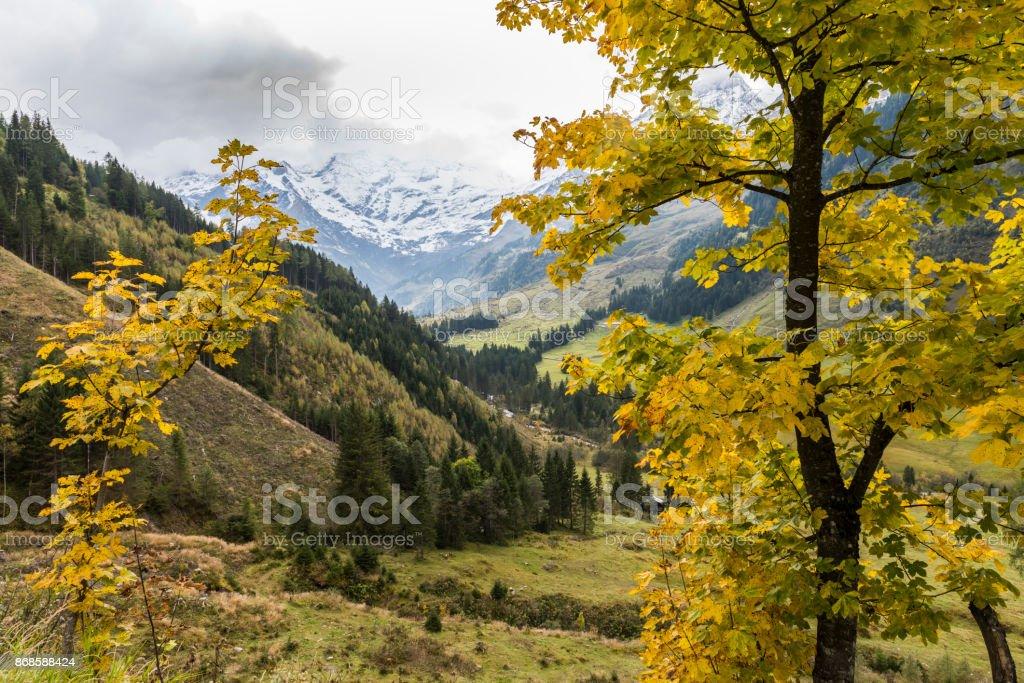Autumn at the Grossglockner stock photo