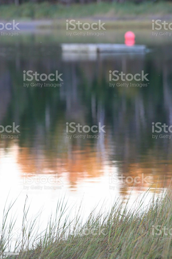 Autumn at the Waters edge stock photo