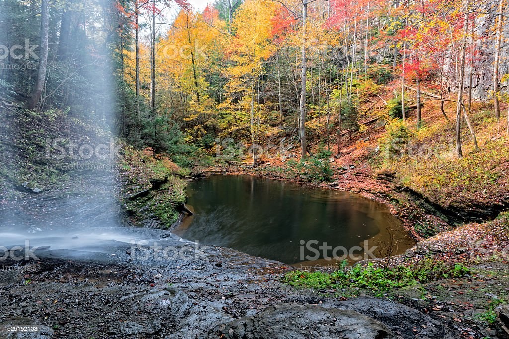 Autumn At Upper Piney Falls stock photo