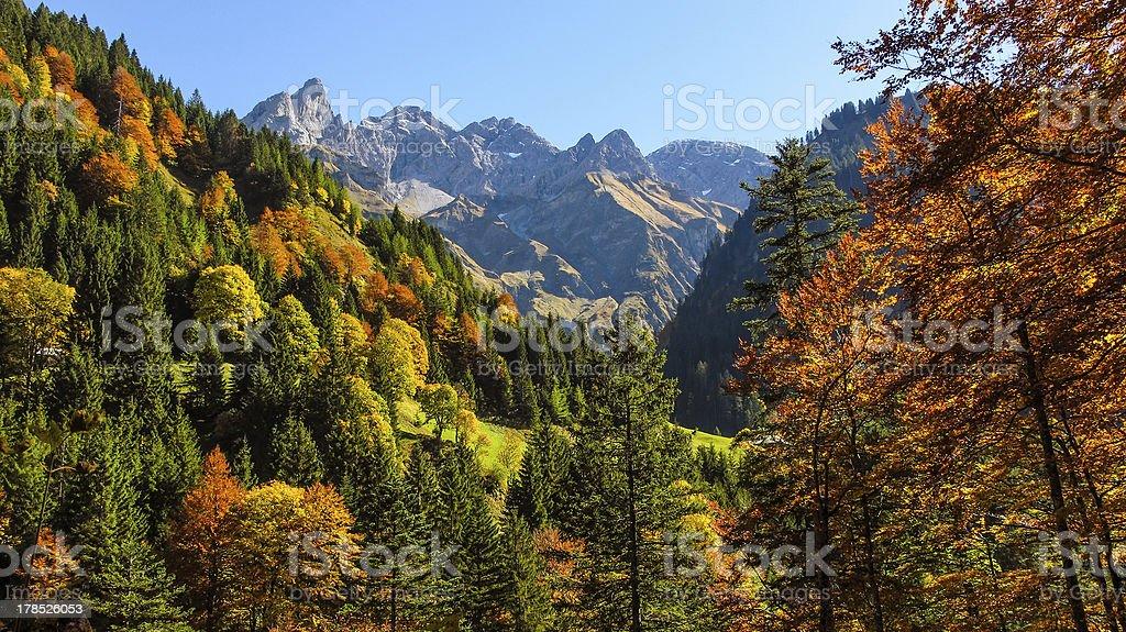 Autumn atmosphere in the Allgaeu royalty-free stock photo