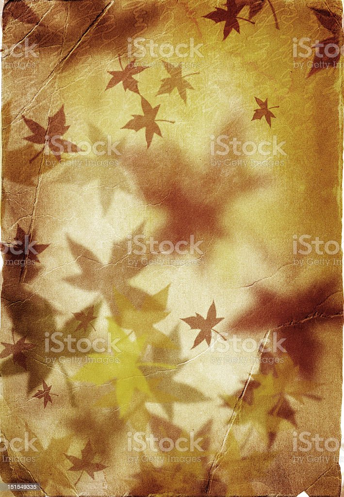 Autumn background in retro style royalty-free stock photo