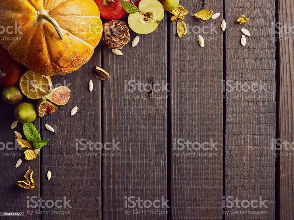 Autumn background with space for your text. stock photo