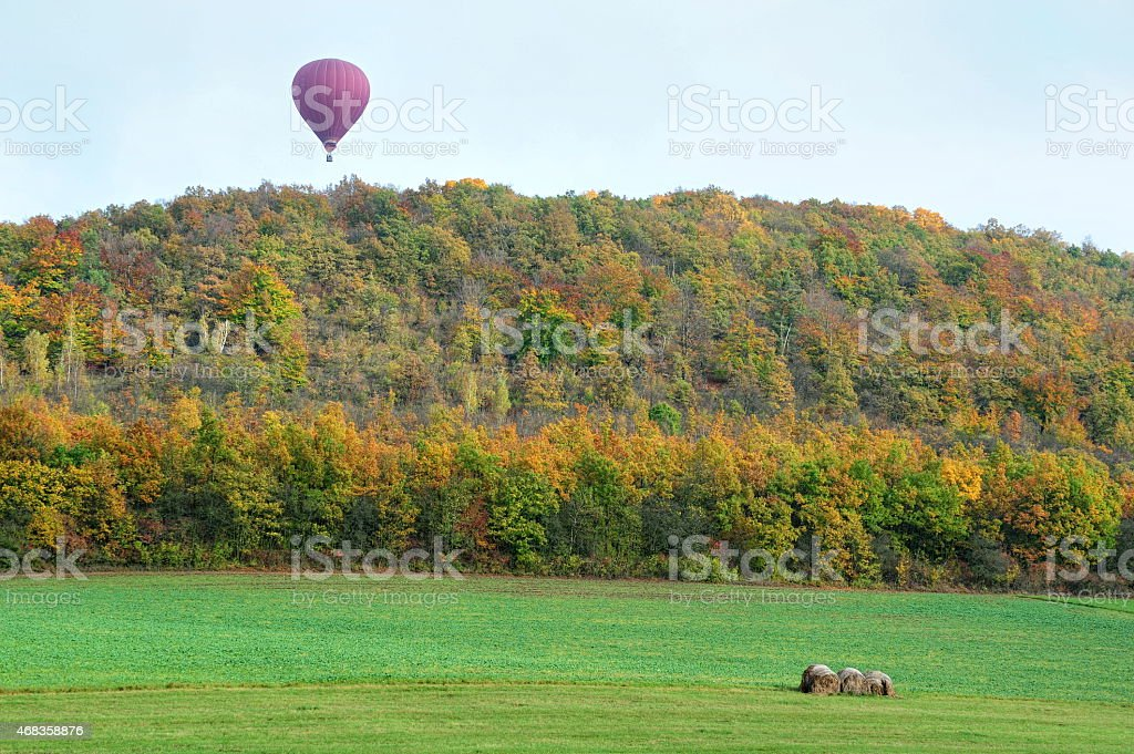 Autumn balloon flights royalty-free stock photo