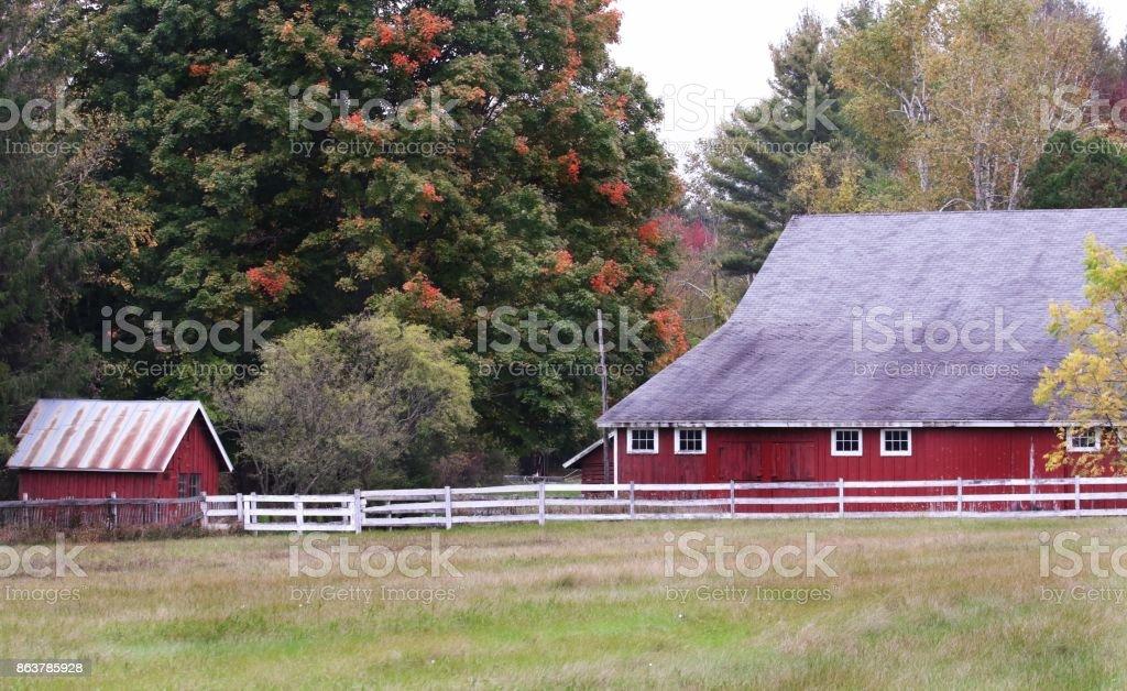 Autumn Barn stock photo