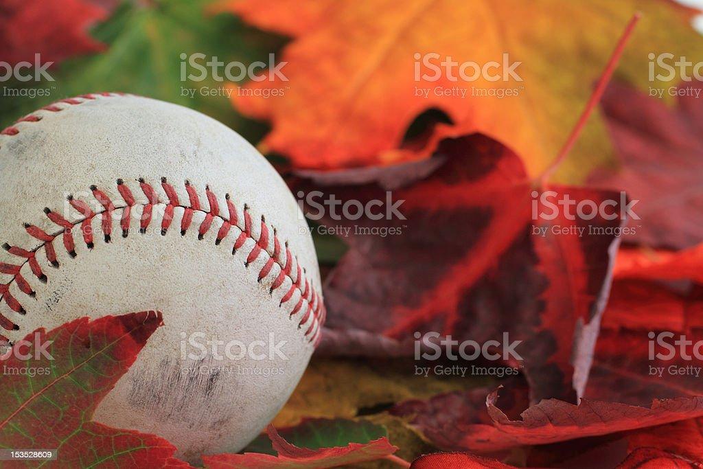 Autumn Base Ball stock photo