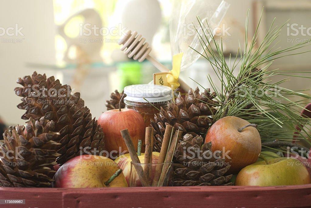 Autumn Basket Center piece royalty-free stock photo
