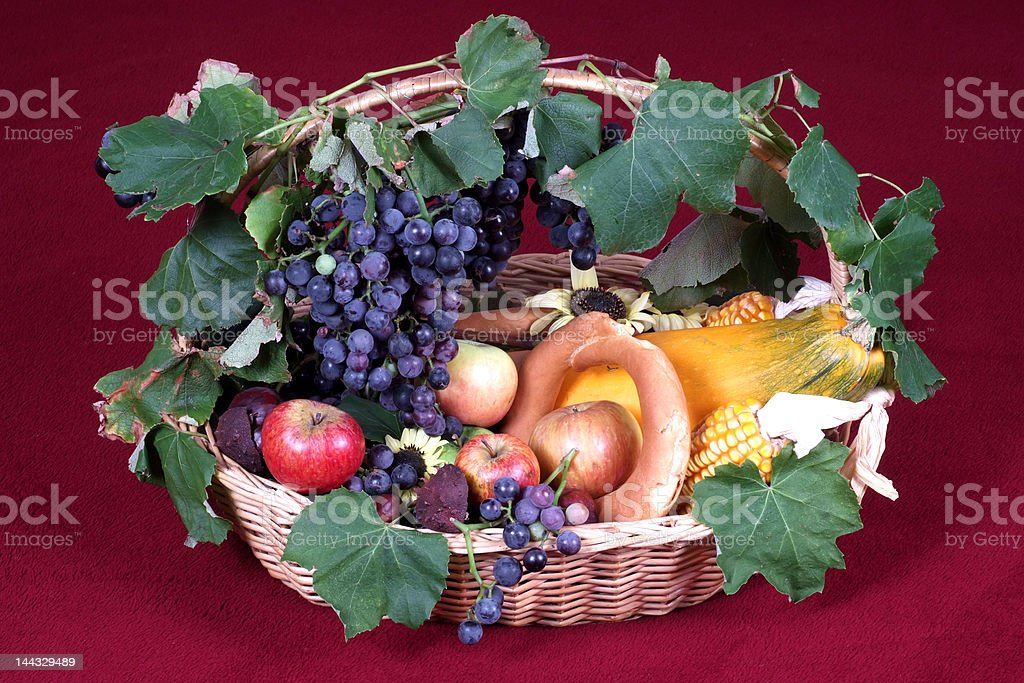 Autumn basket royalty-free stock photo