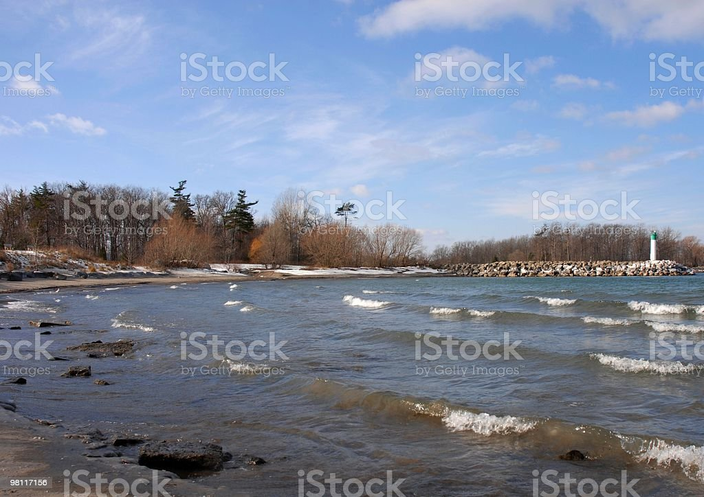 Autumn Beach royalty-free stock photo