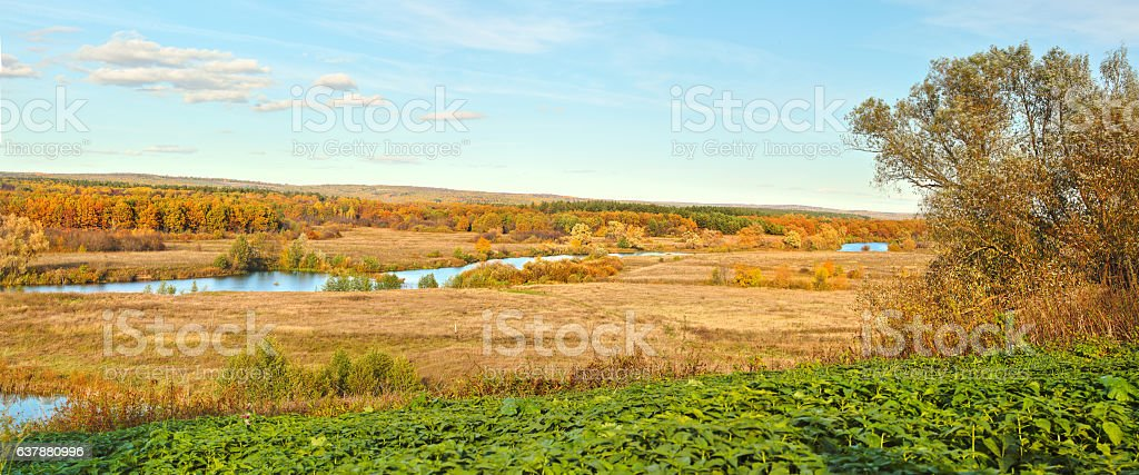 autumn beautiful panoramic rural landscape stock photo