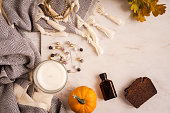 istock Autumn beauty and fashion flatlay 853308298