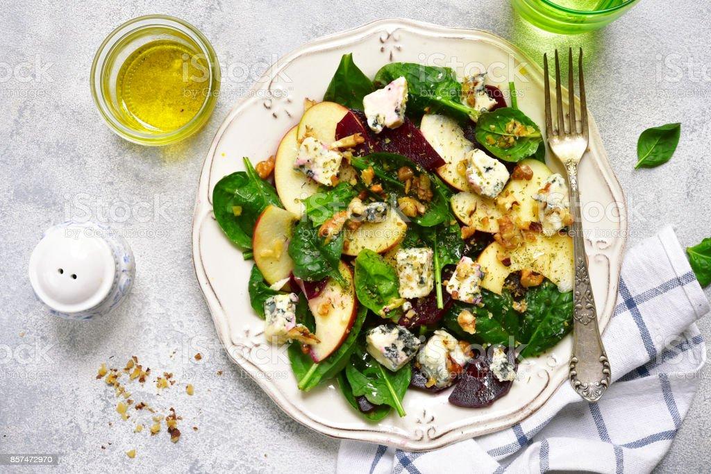 Autumn beet root salad stock photo