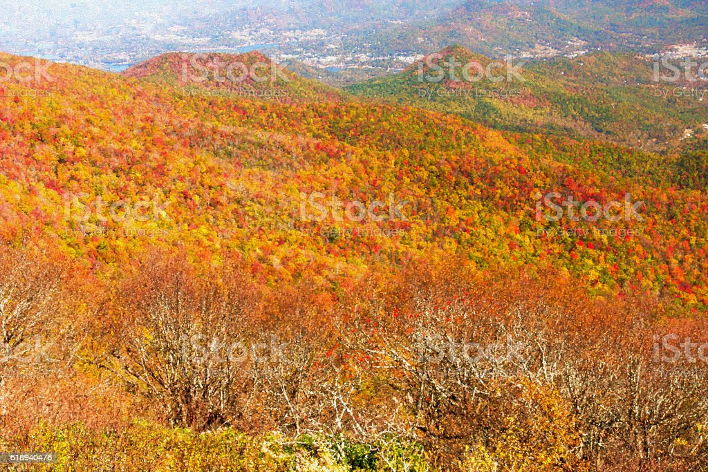Autumn Blue Ridge Mountains Landscape stock photo
