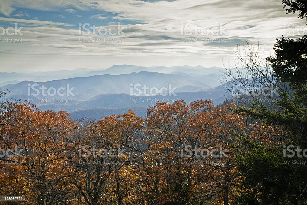 Autumn, Blue Ridge Parkway stock photo