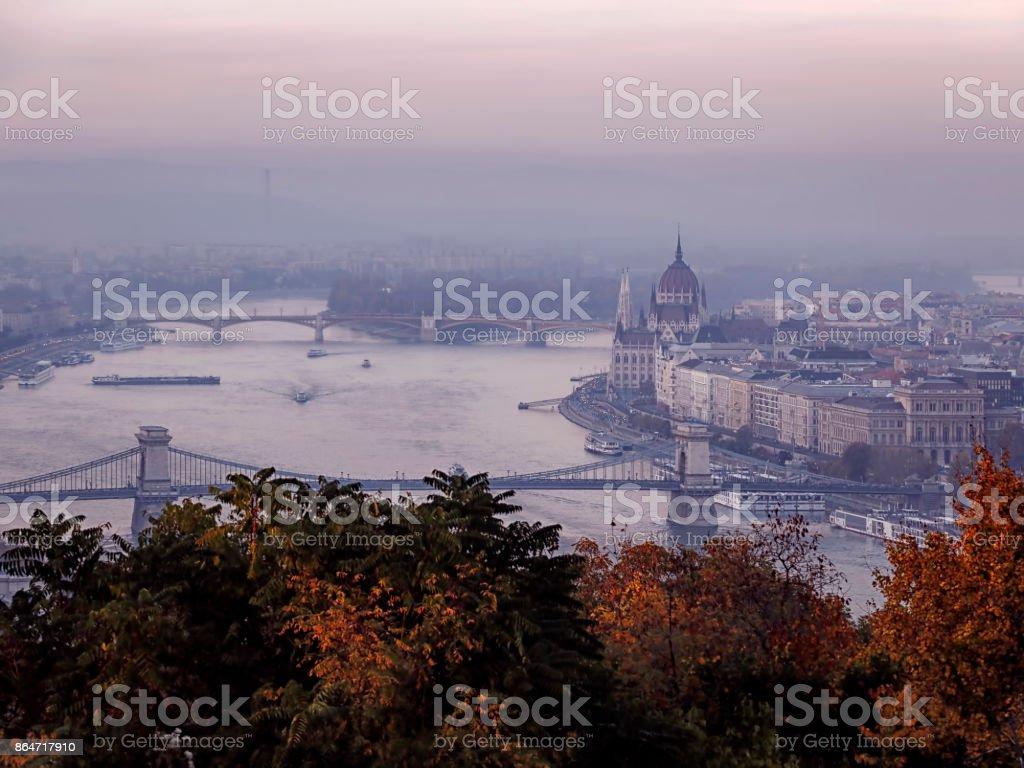 Autumn, Budapest stock photo