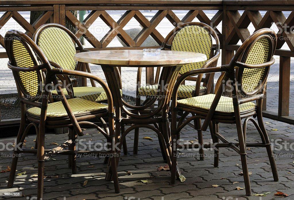 Autumn cafe royalty-free stock photo