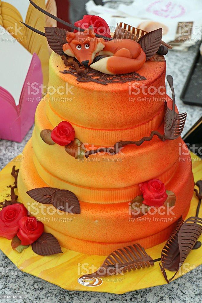 Outstanding Autumn Cake Stock Photo Download Image Now Istock Funny Birthday Cards Online Unhofree Goldxyz