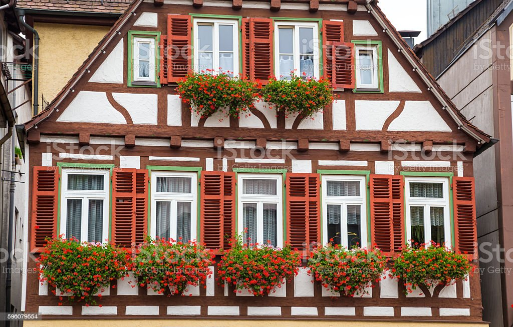 Autumn Calw city house in Germany royalty-free stock photo