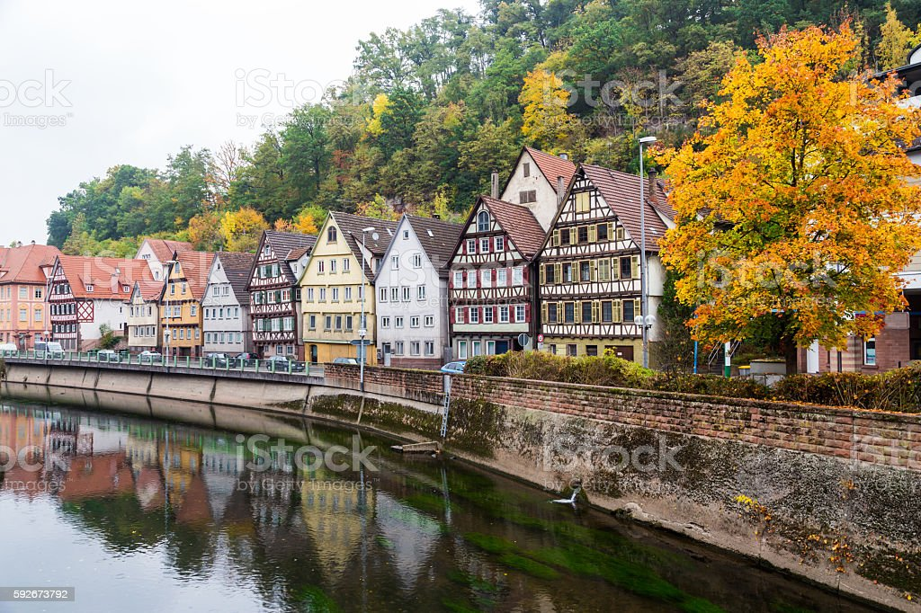 Autumn Calw city in Germany stock photo