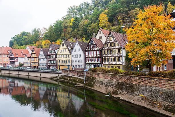 Autumn Calw city in Germany stock photo