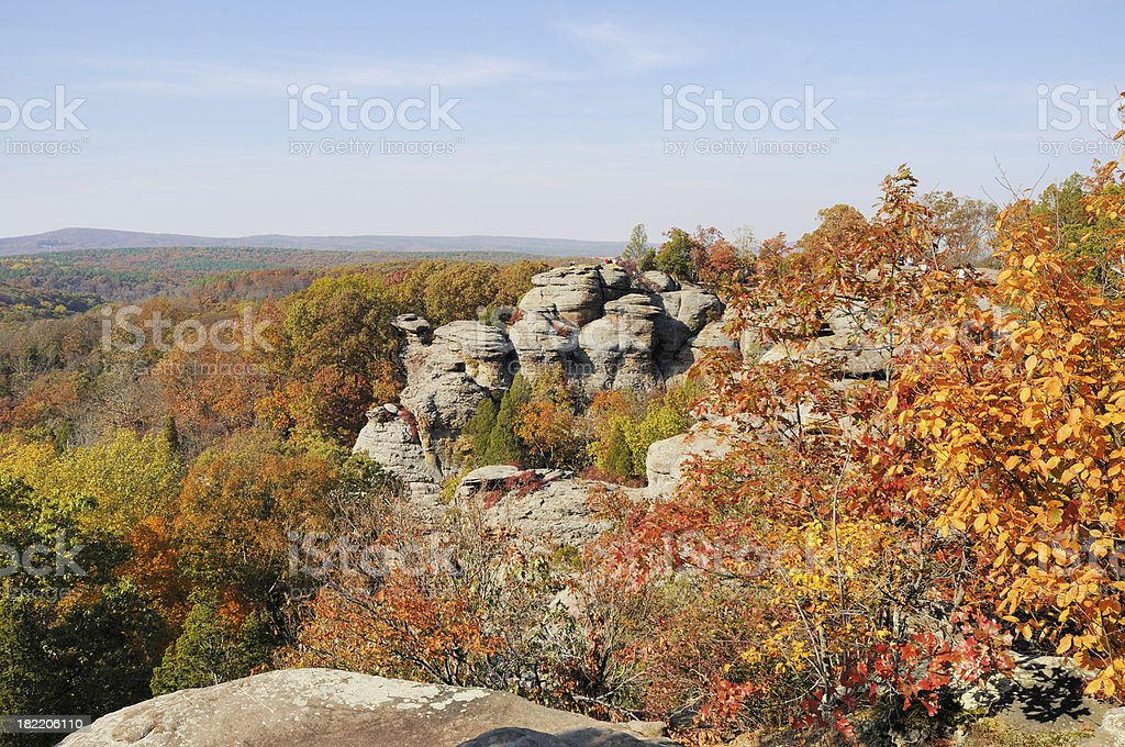 Autumn Camel Rock In Garden Of The Gods Wilderness Illinois Stock Photo Download Image Now Istock