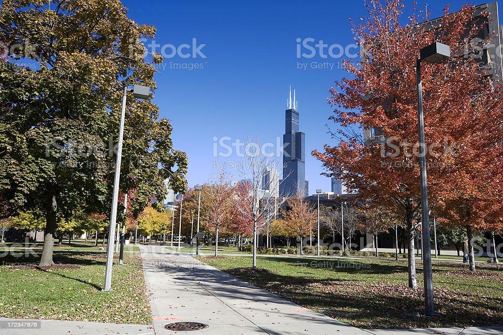Autumn Campus at UIC royalty-free stock photo