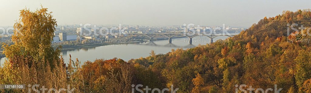 Autumn City Pano royalty-free stock photo