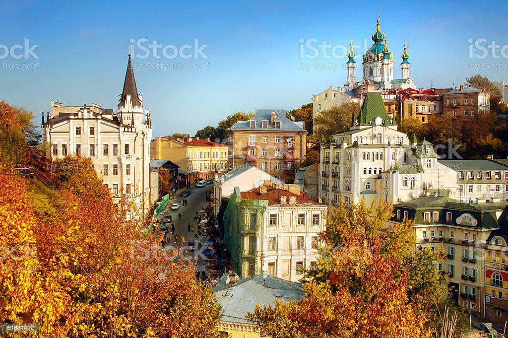 Autumn city stock photo