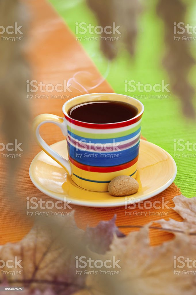 Autumn coffee cup royalty-free stock photo