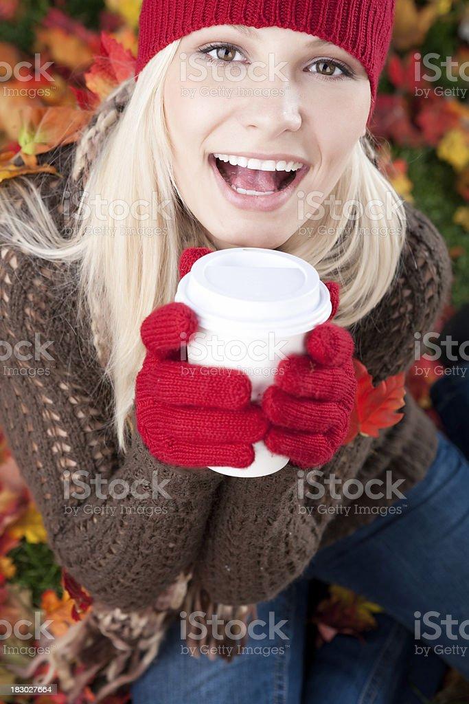 Autumn Coffee royalty-free stock photo