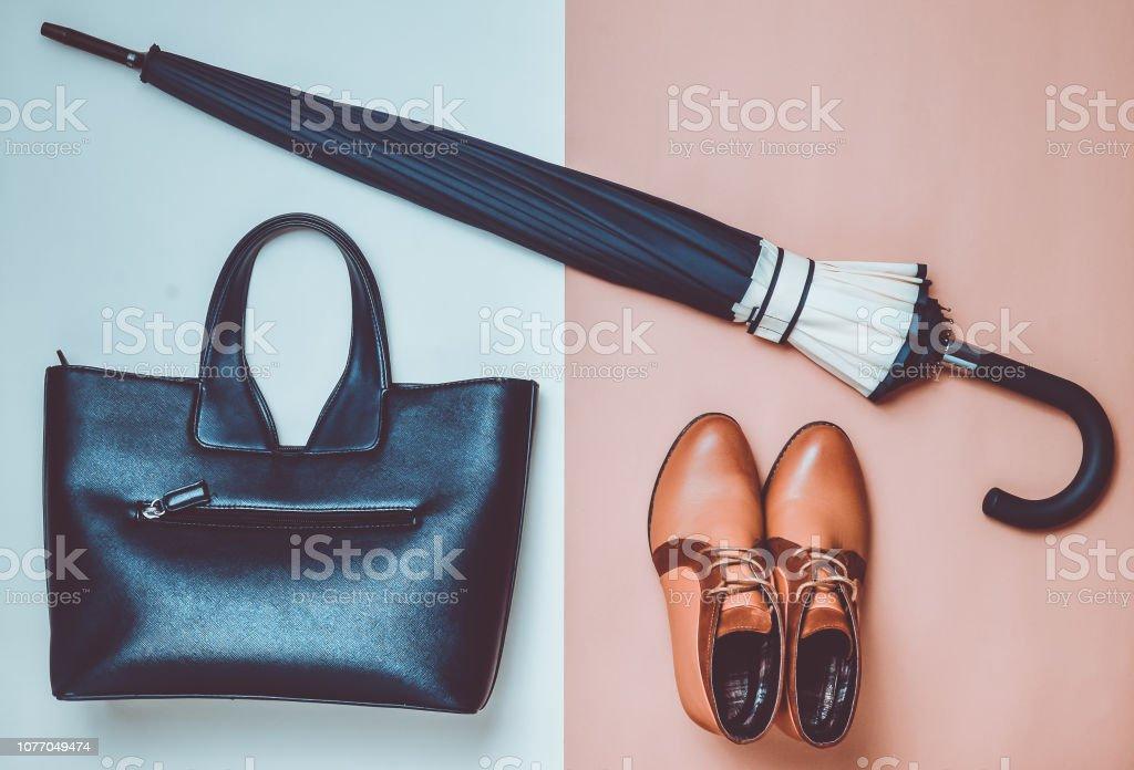 ad3351be4fd8 Coleção Outono de sapatos e acessórios femininos. Demi-temporada botas, um  guarda-