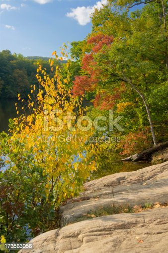 Autumn colors at Ramapo reservoir in New Jersey